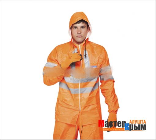 Костюм влагозащитный ЕкстраВижноранж. Курт/брюки/капюшон плотный