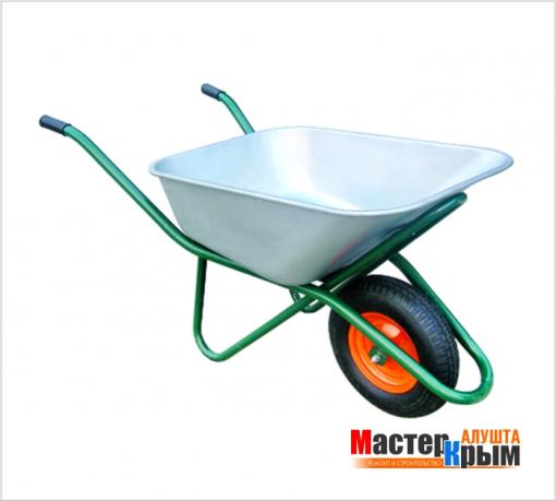 Тачка строительная 1-колесная зеленая 110л/150кг