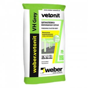 Шпаклевка цементная Вебер Ветонит VH серая 20 кг