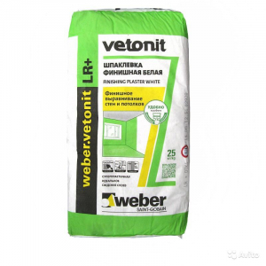 Шпаклевка суперфиниш Вебер Ветонит ЛР+ 25 кг