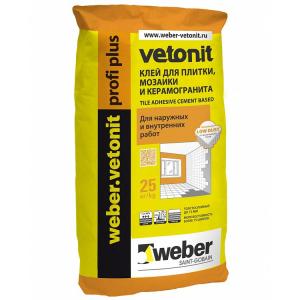 Клей для плитки Ветонит профиплюс 25 кг