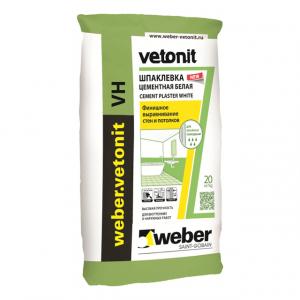 Шпаклевка цементная Вебер Ветонит VH белая 20 кг