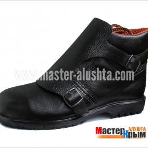 Ботинки сварщика Профи КА414кс/2-2/АА814м кожа/клапнапряж/пу+н.резина/комп.поднос.