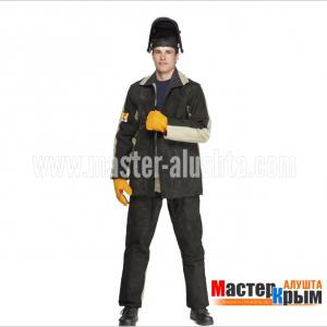 Костюм сварщика брезентовый+спилок Д-4 КОС-Д-4