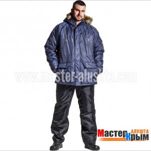 Куртка ут. Аляска-Анталекст.син/оранж 100% ПЭ молния 2-слойный синтепон