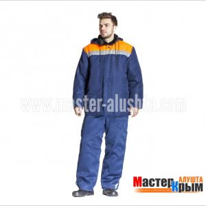 Куртка ут. Бригадир-Анталекссин/оранжсмесов ВУ 2-слойный синтепон