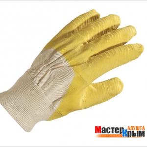 Перчатки стекольщика желтые