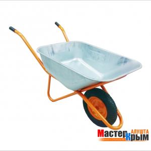 Тачка строительная 1-колесная оранж. (п/у колесо) 110л/200кг