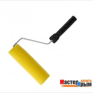 Валик полиакрил 180мм желтый с ручкой